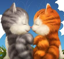 For LOVERS. For Beloved. Two kittens in love by Ldarro