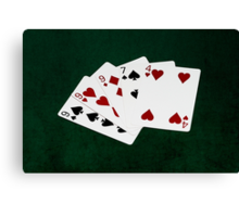 Poker Hands - Three Of A Kind - Nine Canvas Print