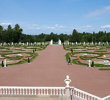 views on beauty Royal garden from the balcony of the palace by mrivserg