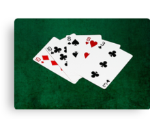 Poker Hands - Two Pair - Ten, Eight Canvas Print