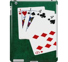 Poker Hands - Two Pair - Jack, Four iPad Case/Skin