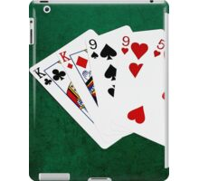 Poker Hands - Two Pair - King, Nine iPad Case/Skin