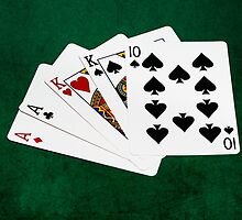 Poker Hands - Two Pair - Ace, King by luckypixel