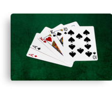 Poker Hands - Two Pair - Ace, King Canvas Print