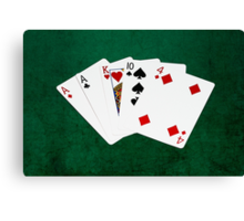 Poker Hands - One Pair - Aces Canvas Print
