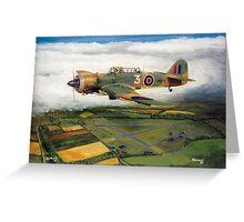 Martinet Target Towing 1945 Greeting Card