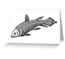 Inked Coelacanth Greeting Card