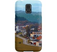 Autumn season village panorama | landscape photography Samsung Galaxy Case/Skin