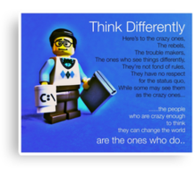 Think differently...... Canvas Print