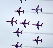 The Red Arrows by Mark  Jones