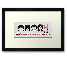 Belcher Family Crap Attack Framed Print