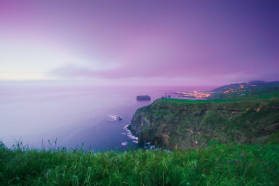 Mosteiros at twilight, Azores by Gaspar Avila