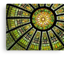 *Stained Glass Dome* Canvas Print