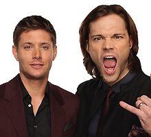 Supernatural Jensen and Jared by IronWolf38