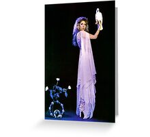 Stevie Nicks, The White Witch Bella Donna Greeting Card