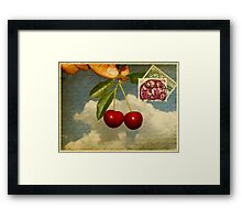 Cherry In The Sky Framed Print
