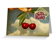 Cherry In The Sky Greeting Card