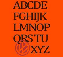 VolksWagen Alphabet Kids Clothes