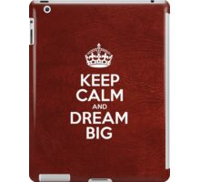 Keep Calm and Dream Big - Glossy Red Leather iPad Case/Skin