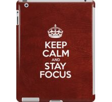 Keep Calm and Stay Focus - Glossy Red Leather iPad Case/Skin
