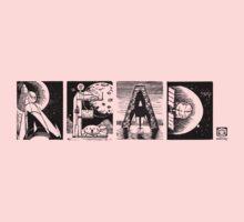 Read! Retro Science Fiction Rocket Alphabet Letter design Kids Clothes