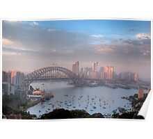 Watercolours - Moods Of A City #37 - The HDR Series , Sydney Australia Poster
