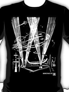 Night Traffic, Whitehall Hoverport (White Version) T-Shirt