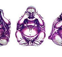 hear no, see no, say no evil buddhas by lilaferraro