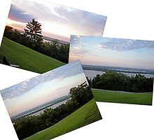 Collage of the Mississippi River by Jim Caldwell