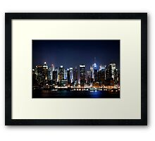 New York City Blues Framed Print