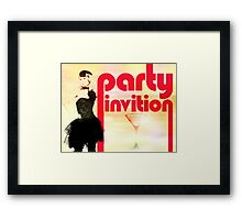 Party Invitation Framed Print