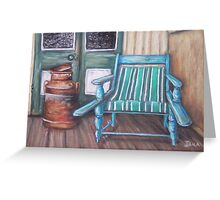 Squatter's Chair and Cream Can Greeting Card