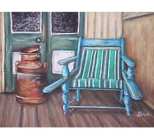 Squatter's Chair and Cream Can Photographic Print