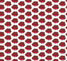 The Strawberry Thieves band logo pattern Sticker