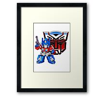 SD Optimus Prime Framed Print