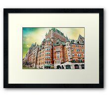Chateau Frontenac, Quebec City, Canada Framed Print