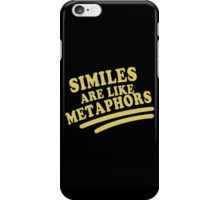 Similes Funny Geek Nerd iPhone Case/Skin