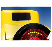 Yellow '31 Ford - Print  Poster