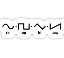 Waveforms (black graphic) Sticker