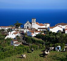 Parish in the Azores islands by Gaspar Avila