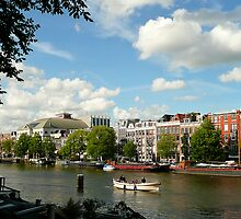 Summer-evening at the River Amstel by jchanders