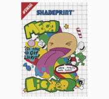 Mega Licker! [Cartridge Sleeve Art Work]. Kids Clothes