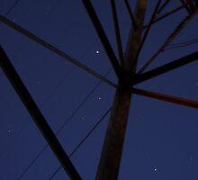 Pylon and the Night Sky by BLaskowsky