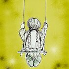 Girl on a swing. by Lisadee Lisa Defazio