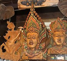 Wood carving in Thailand by chord0