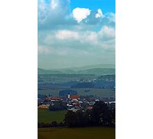 Cloudscape with some rural panorama beyound   landscape photography Photographic Print