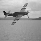 P-51D over Lake Windemere, September 1944 by Mark  Jones