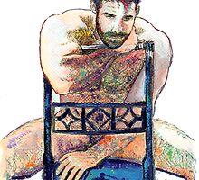The Blue Chair by RDRiccoboni