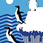 swimming penguins by MooieVogel