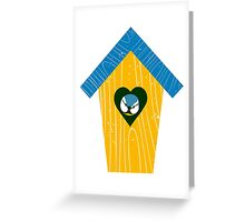 Blue-tit at home Greeting Card